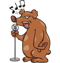 singing bear cartoon vector image