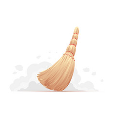 Small broom sweep floor vector