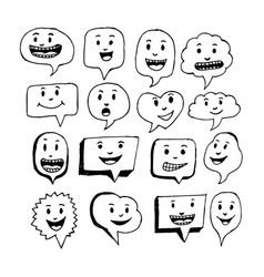 speech bubble emotion hand drawing design vector image