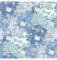 Summer blue pattern vector image