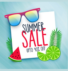 summer sale background with design elements vector image