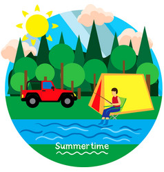 Summertime vacation vector