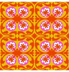Suzani pattern with Uzbek and Kazakh motifs vector image