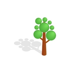 Tree icon isometric 3d style vector image
