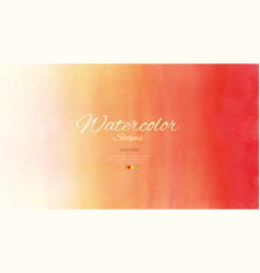 Watercolor stain with red gradient orange vector