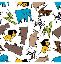 African wild animals seamless pattern vector image