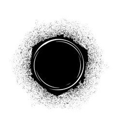 Black Ink Blot vector image vector image