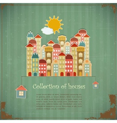 Collection of houses vector image vector image