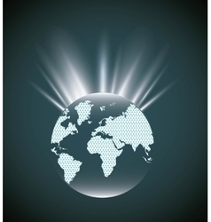 Earth sphere icon World and Map design vector image