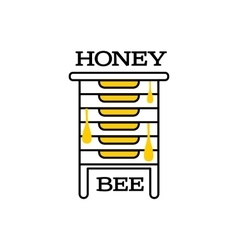 Hand-drawn bee hive logo for honey products vector image vector image