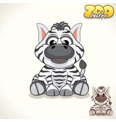 Cartoon Zebra Character vector image vector image