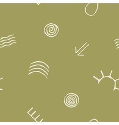 seamless pattern with Australian aboriginal art vector image vector image