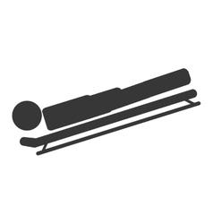 skeleton sport icon vector image