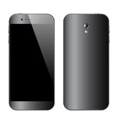 Smartphones front back view vector image vector image