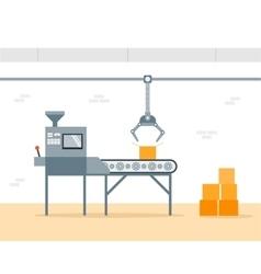 Conveyor Machine in Factory - flat vector image vector image
