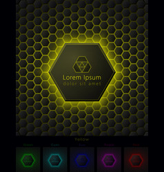 hexagonal background with pace for your logo vector image vector image