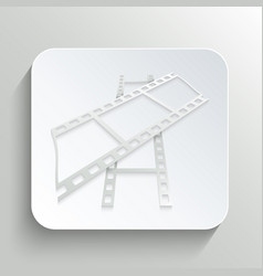 icon of film on the button with shadow vector image