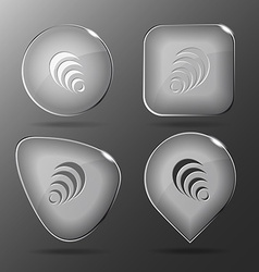 Pyramid Glass buttons vector image vector image
