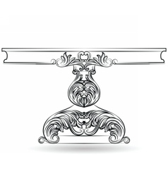Rich Baroque Table with carved ornaments vector image vector image