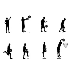 Set of Basketball Players vector image vector image