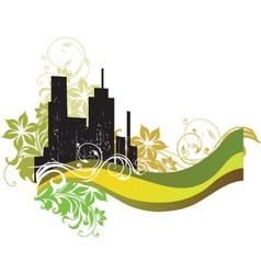urban floral city vector image vector image