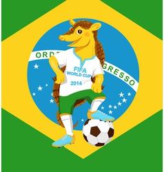 Armadillo FIFA World Cup mascot vector image