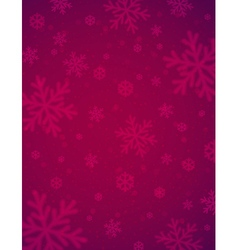 Christmas background with red blurred snowflakes vector image vector image