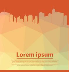 city skyscraper silhouette cityscape background vector image vector image