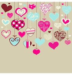 Lovely decorative background vector image vector image