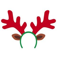 reindeer mask vector image vector image