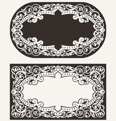 Two Ornate Frames Backgrounds vector image vector image