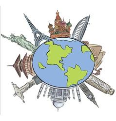 World architecture vector image