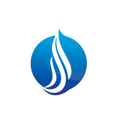 Abstract circle wave logo image vector