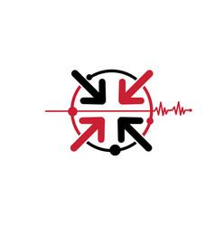 abstract medical logo design inspiration vector image