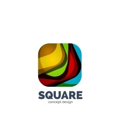 Abstract square logo vector