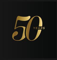anniversary company logo 50 years fifty gold vector image