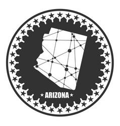 Arizona state map vector