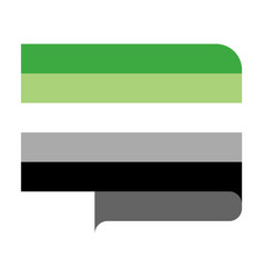 Aromantic pride flag vector
