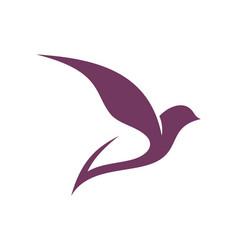Bird fly dove abstract icon logo vector