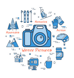 Blue winter pictures concept vector