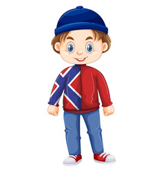 boy from norway wearing hat and jacket vector image