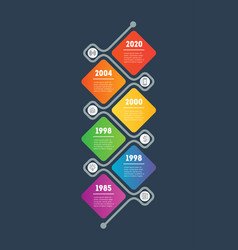 Business presentation concept with six options vector