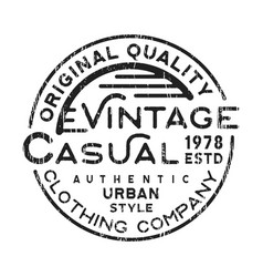 casual vintage stamp vector image