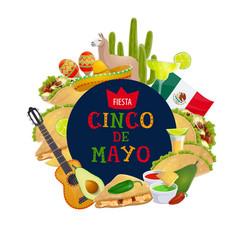 Cinco de mayo mexican traditional holiday fiesta vector