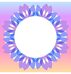 Colorful floral wreath frame vector