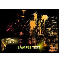 Colorful Paint Splash Background vector image