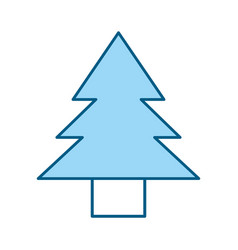 Cute blue tree cartoon vector