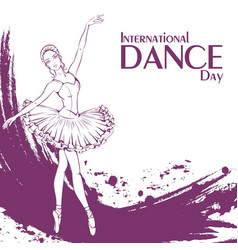 Dance day ballet vector