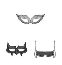 Design of hero and mask logo set of hero vector