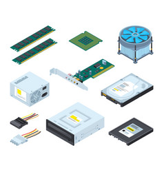 different hardware parts and components of vector image